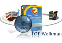 Any Video Converter GoldはDVDをWalkmanへ変換ソフト