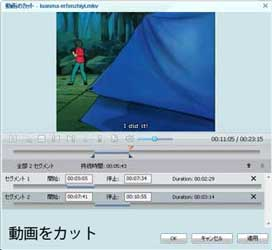 Any Video Converter Proで動画をカット